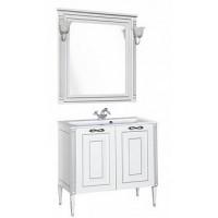 Мебель для ванной Aquanet Паола 90 белый/серебро (литьевой мрамор) 00182133