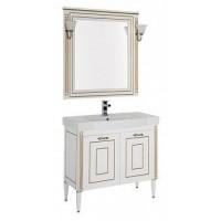 Мебель для ванной Aquanet Паола 90 белый/золото (керамика) 00186382
