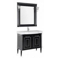 Мебель для ванной Aquanet Паола 90 черный/серебро (керамика) 00186393
