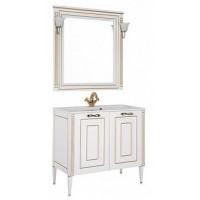 Мебель для ванной Aquanet Паола 90 белый/золото (литьевой мрамор) 00187844