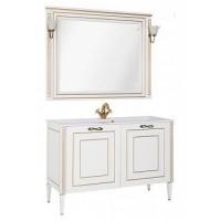 Мебель для ванной Aquanet Паола 120 белый/золото (литьевой мрамор) 00187865