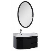 Мебель для ванной Aquanet Сопрано 95 L черный (2 дверцы 2 ящика) 00169422