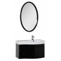Мебель для ванной Aquanet Сопрано 95 R черный (2 дверцы 2 ящика) 00169424