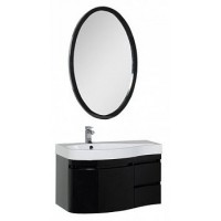 Мебель для ванной Aquanet Сопрано 95 L черный (3 ящика) 00169441
