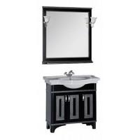 Мебель для ванной Aquanet Валенса 90 черный краколет/серебро 00180447