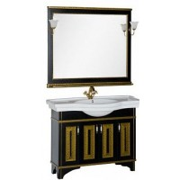 Мебель для ванной Aquanet Валенса 110 черный краколет/золото 00180449