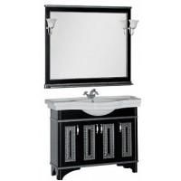Мебель для ванной Aquanet Валенса 110 черный краколет/серебро 00180450