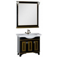 Мебель для ванной Aquanet Валенса 100 черный краколет/золото 00180454