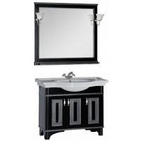 Мебель для ванной Aquanet Валенса 100 черный краколет/серебро 00180455