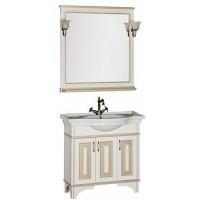 Мебель для ванной Aquanet Валенса 90 белый краколет/золото 00182822