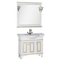 Мебель для ванной Aquanet Валенса 100 белый краколет/золото 00182921