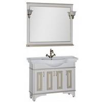 Мебель для ванной Aquanet Валенса 110 белый краколет/золото