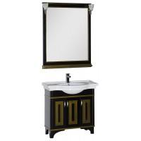 Мебель для ванной Aquanet Валенса 90 черный краколет/золото 00180242