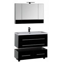 Мебель для ванной Aquanet Верона 100 черный (подвесной 2 ящика) 00175468