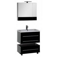 Мебель для ванной Aquanet Верона 75 черный (подвесной 2 ящика) 00175472