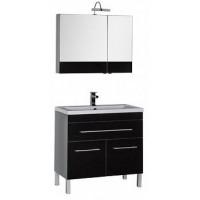 Мебель для ванной Aquanet Верона 90 черный (напольный 1 ящик 2 дверцы) 00182949