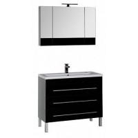 Мебель для ванной Aquanet Верона 100 черный (напольный 3 ящика) 00178536