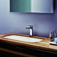 Раковина встраиваемая снизу 50*40 cm Azzurra Glaze GLZ 50x40/SP