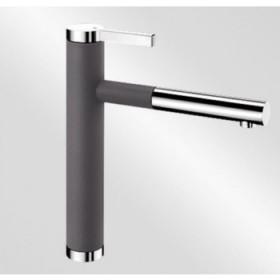 Смеситель для кухни Blanco Linee-S 518804 хром/темная скала