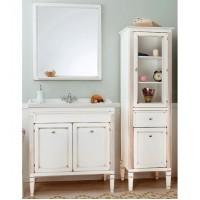 Комплект мебели с зеркалом 70см Caprigo Альбион 33311 B002 слоновая кость с золотой патиной