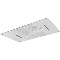 Верхний душ Cisal ZEN Shower ZS027030D2 85х54см,3 типа струи, цвет полированная нерж.сталь