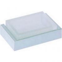 Подвесная мыльница Cisal Quad QU09060021 стекло матовое, хром