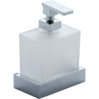 Диспенсер мыла Cisal Quad QU09062021 стекло матовое, хром