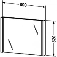Зеркало с подсветкой 80см Duravit 2nd Floor 2F9647