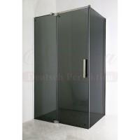 Душевой уголок прямоугольный с рапашной дверью 90х120 Elegansa Platz Grey 113