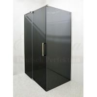 Душевой уголок прямоугольный с рапашной дверью 90х120 Elegansa Platz Grey 711