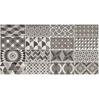 Керамическая плитка 7,5х15 см Equipe Ceramicas Metro Patchwork B&W 21396