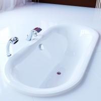 Ванна из искусственного мрамора Фэма Стиль Феррара на опорах 413-01 1710х820