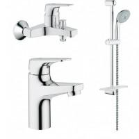 Набор смесителей для ванной 3 в 1 Grohe BauFlow 121624