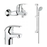 Комплект для ванной комнаты 3 в 1 Grohe Euroeco 124428