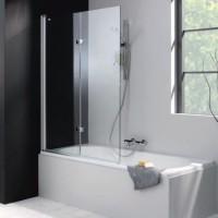 Шторка для ванны 120cм Huppe Design pure 175231.087.321 прозр/матовое серебро