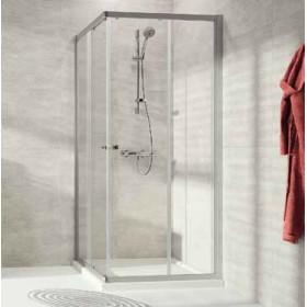 Душевое ограждение квадратное 100х100 Huppe Alpha2 A20104.069.321  серебристый/прозр.стекло
