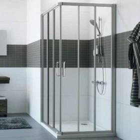Душевой уголок квадратный 90х90 Huppe CLASSICS2 C20103.069.321 серебро/прозр.стекло, Душевые ограждния Huppe