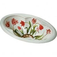 Раковина встраиваемая сверху 64,1х43,2 см Kohler Fables Flowers design on Cantata K-14173-0