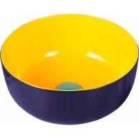 Раковина Melana 6T 806-T4003-B1+В6 38.5x38.5 см фигурная, цвет сине-желтый
