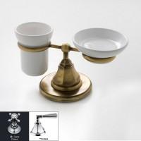 Мыльница и стакан Nicolazzi Teide Metal 1494CR05