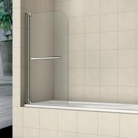 Шторка на ванну распашная маятниковая RGW Screens SC-02 100х150 прозрачное 03110210-11
