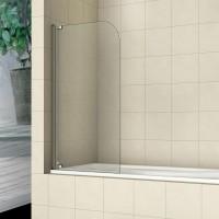 Шторка на ванну распашная маятниковая RGW Screens SC-01 80х150 прозрачное 8 мм,  03110108-11