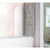 Шторка на ванну распашная маятниковая RGW Screens SC-07 100х150 прозрачное 03110710-11