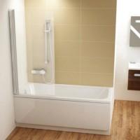 Поворотная шторка для ванны 85см Ravak Chrome CVS1