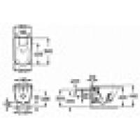 Комплект унитаза 54cм Roca Gap 34647L000 с инсталяцией Roca 890090020 и клавишей