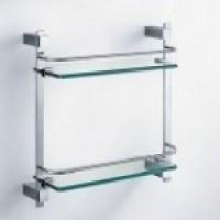 Полка прямая (стекло) двойная 38,6x40 см Schein Durer 2612