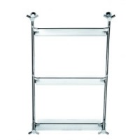 Полка прямая стекло с ограничителем 3-этажная Schein Pollock 0313