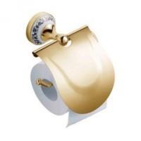 Бумагодержатель с крышкой Schein Saine Gold 7053026VF золото