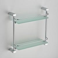 Полка прямая (стекло) с ограничителем двойная 40,2x40 см Schein Swing 3212