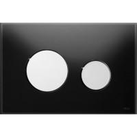 Клавиша смыва Tece Loop 9.240.656 чёрное стекло 9240656